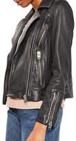 Topshop Daze Washed Biker Jacket