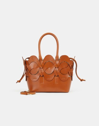 Lafayette 148 New York Small Italian Leather 8 Knot Tote