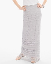Chico's Crochet Maxi Skirt