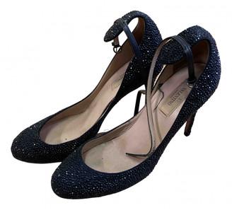 Valentino Black Glitter Heels
