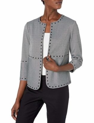 Vince Camuto Women's Studded Herringbone Jacket