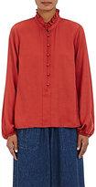 Sea Women's Long-Sleeve Blouse-RED