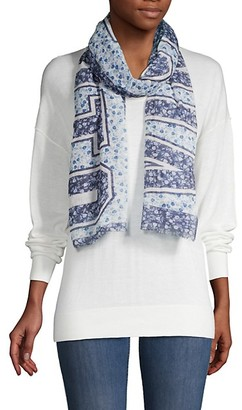 Vince Camuto Mixed Floral-Print Scarf