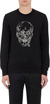 Alexander McQueen Men's Cotton Skull Sweatshirt-BLACK