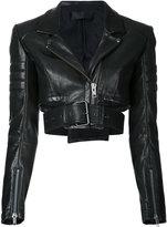 Haider Ackermann Miza cropped biker jacket - women - Leather - 36