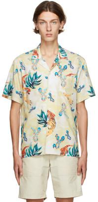 Bather Yellow Hawaiian Tiger Camp Shirt