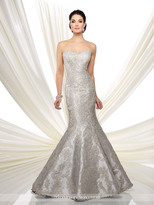 Ivonne D for Mon Cheri Ivonne D by Mon Cheri - Long Mermaid Evening Dress with Lace Appliques 216D43