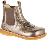 Angulus Children's Heart Chelsea Boots, Pewter
