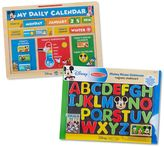 Melissa & Doug Disney's Mickey Mouse Clubhouse Magnetic Calendar & Chalkboard Activity Bundle by
