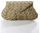 Lauren Merkin Metaliic Gold Intertwine Design Envelope Clutch Handbag