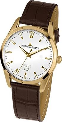 Jacques Lemans Liverpool Analogue Quartz Leather Watch Bracelet 1/1828C