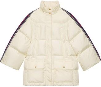 Gucci Web-panelled padded jacket