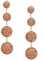 Cezanne Crystal Pave Ball Linear Drop Earrings