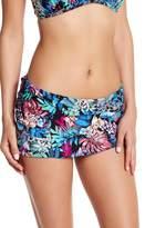 Kenneth Cole New York Floral Skirt Bikini Bottom