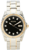 Bulova 98D122 Silver-Tone & Black Watch