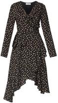 Paisie Frill Wrap Dress With Asymmetric Hem