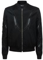 Just Cavalli Embellished Cotton Bomber Jacket