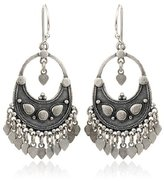 Satya Jewelry Silver Flower Petal Chandelier Earrings