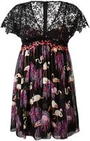 Giamba flamingos print pleated dress