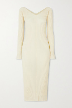 ioannes - Tights Ribbed Wool-blend Dress - Ivory
