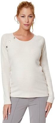 Stowaway Collection Raglan Snap Nursing & Maternity Sweater