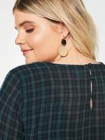 Junarose CurveBundy Check Tunic Dress - Green