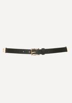 Bebe Whipstitched Skinny Belt