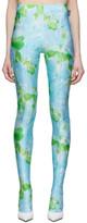 Balenciaga Blue and Green Dynasty Leggings