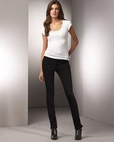 Jeans Pencil Split Skinny Jeans, Black