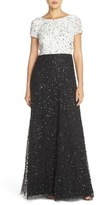 Adrianna Papell Sequin Colorblock Gown (Regular & Petite)