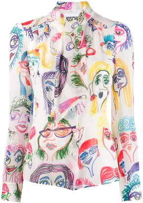 Moschino Doodle Print Blouse
