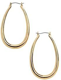 BaubleBar Sophia Oval Hoop Earrings