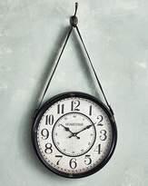 Fashion World Hometime Distressed Metal Hanging Clock