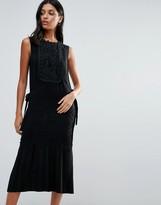 Warehouse Lace Tabard Dress