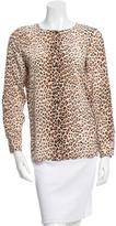Equipment Cheetah Print Silk Top