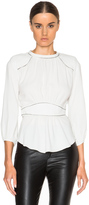 Isabel Marant Wiley Embroidered Crepe Top
