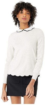 Ted Baker Lheo Embellished Collar with Scallop Hem