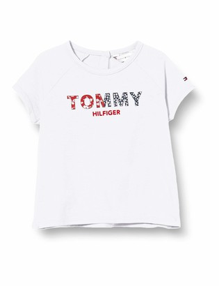 Tommy Hilfiger Girl's LG Flower Graphic TEE S/S T-Shirt