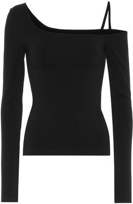 Helmut Lang One-shoulder stretch-jersey top