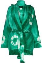 Alanui tie-dye fringed cardigan