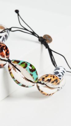 Maison Irem Multiple Leopard Shell Bracelet