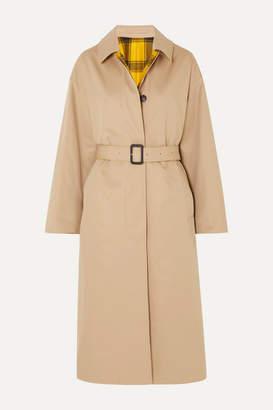 MACKINTOSH Amulree Reversible Cotton-gabardine And Checked Wool Coat - Beige