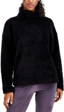 32 Degrees Mock-Neck Fleece Sweater