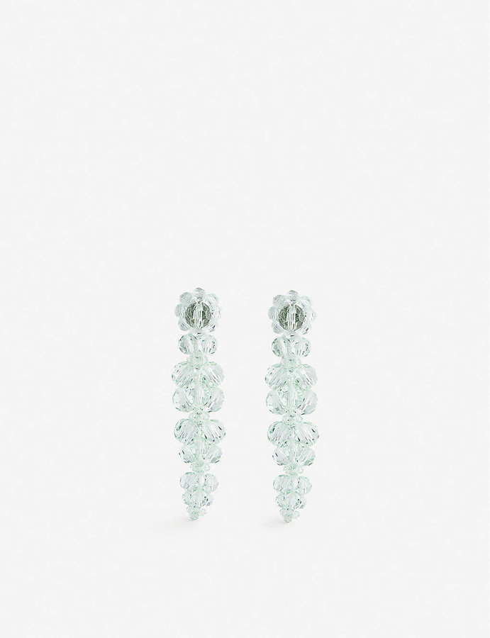 Simone Rocha Cluster Drip sterling silver and glass earrings