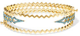 Noir Ice Fall Set Of Three Gold-Plated Turquoise Bracelets