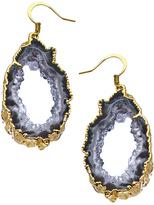 Dara Ettinger Gold and Geode Slice Randi Earrings