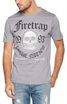 Firetrap Men's Keyser Regular Fit Crew Neck Short Sleeve T - Shirt