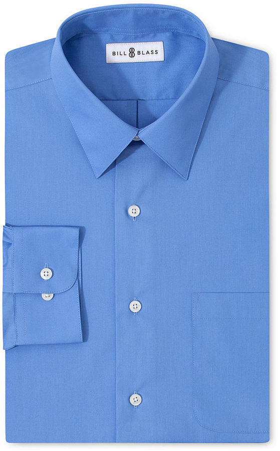 Bill Blass Dress Shirt, Solid Long Sleeve