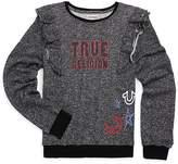 True Religion Girl's Ruffled Doodle Cotton Sweatshirt