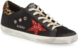 Golden Goose Superstar Canvas Leopard Sneakers